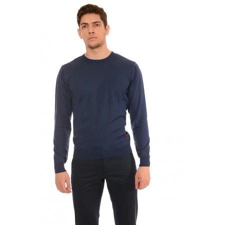 Мъжки памучен пуловер B8701, Силует М