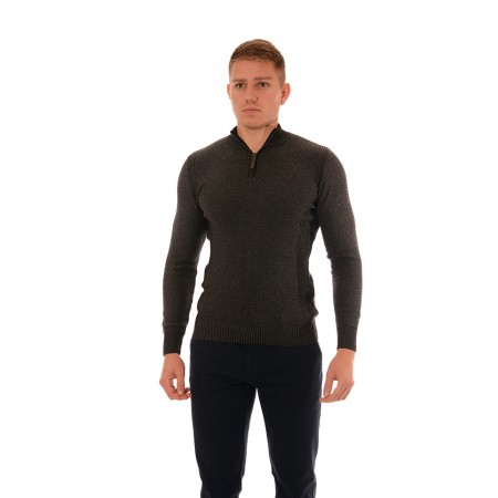 Men's woolen sweater BS 1028, Siluet M