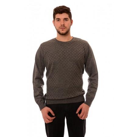 Мъжки вълнен пуловер 7809, Силует М