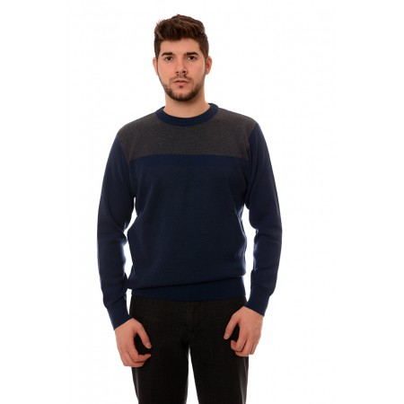 Мъжки вълнен пуловер 7610, Силует М