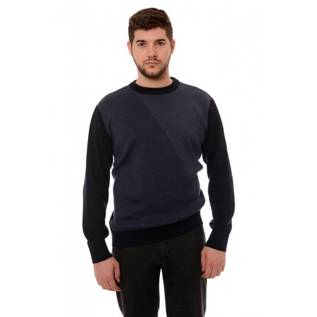 Мъжки вълнен пуловер 7619, Силует М