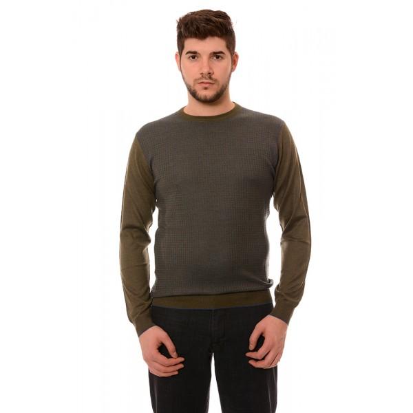 Мъжки вълнен пуловер 177, Силует М