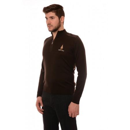 Мъжки вълнен пуловер 7702, Силует М
