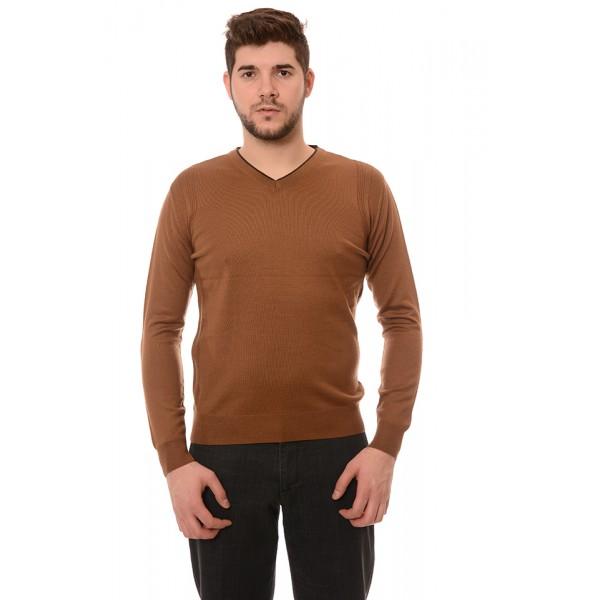 Мъжки вълнен пуловер 7127, Силует М