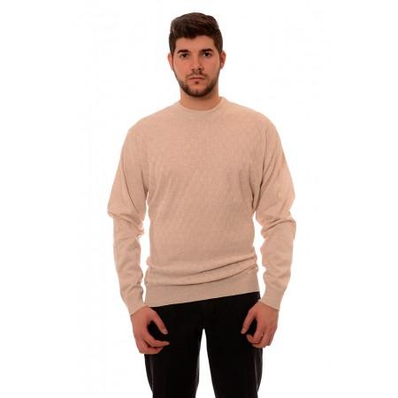 Мъжки вълнен пуловер 7807, Силует М
