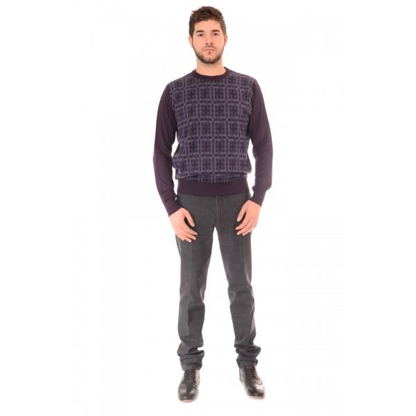 Мъжки вълнен пуловер Силует М  2741